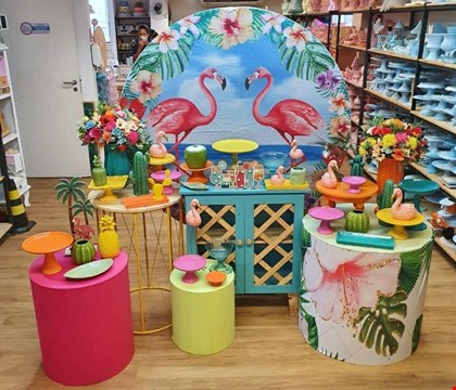 Kit Adulto Luxo - Tropical Flamingos Collor